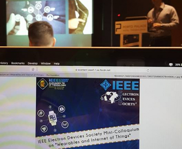 "IEEE Electron Devices Society Mini-Colloqulum on ""Wearables and Internet of things"""